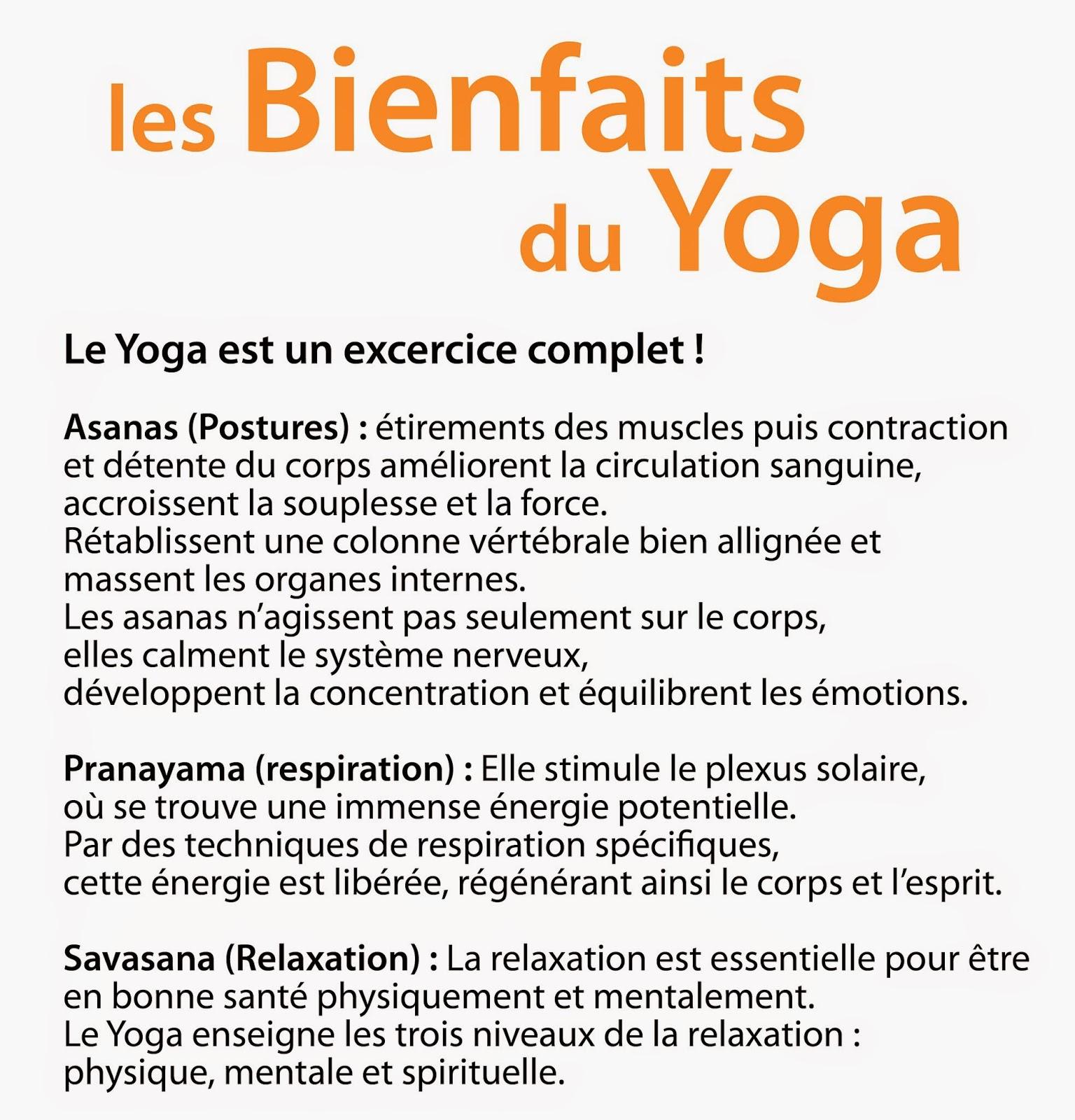 bienfait du yoga sur le corps