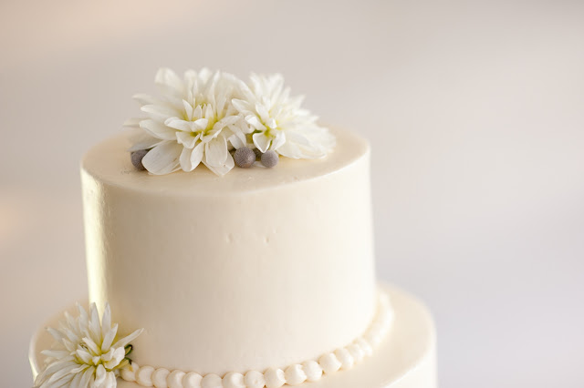 Wedding Cake Topper of Fresh Flowers Minneapolis