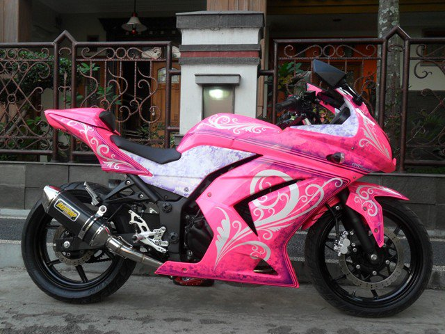 Top 12 Foto Modifikasi Motor Ninja 250 CC Part 2