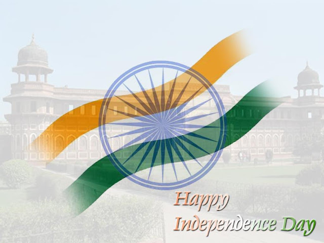 Happy Indian Independence Day Flag Wallpaper Graphics