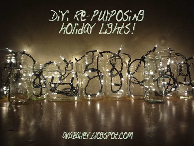 DIY: Re-Purposing Holiday Lights