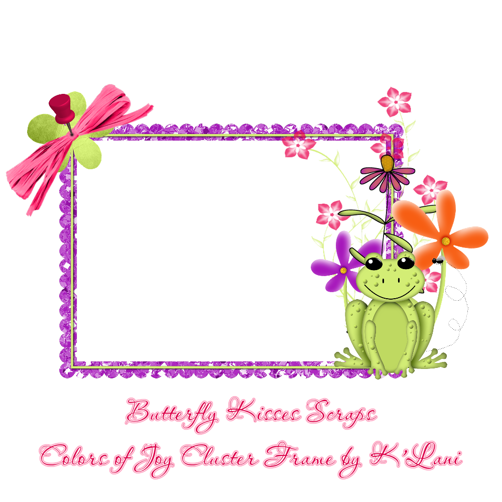 here s a little cluster frame i put together from butterfly kisses