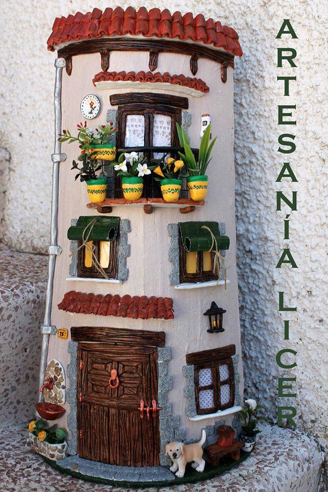 Artesania licer tejas decoradas - Como decorar tejas rusticas ...