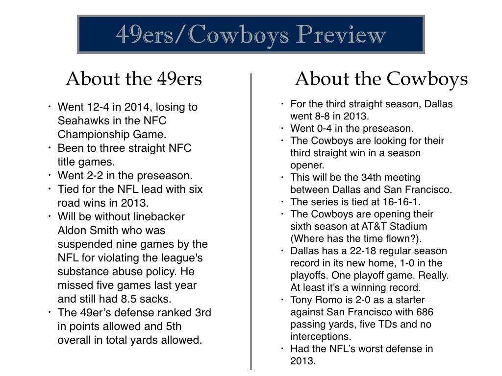 Dallas Cowboys season opener