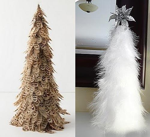 Вариант 3-Блестящая елка из бисера, пайеток и бус.  На конус наклеивается много всяких блестящих побрякушек...