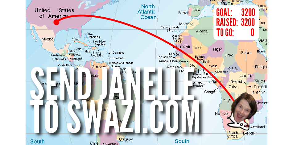 SEND JANELLE TO SWAZI