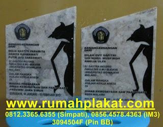 vandel marmer wayang, desain plakat murah, pembuat souvenir acara olimpiade seminar, 0856.4578.4363, www.rumahplakat.com