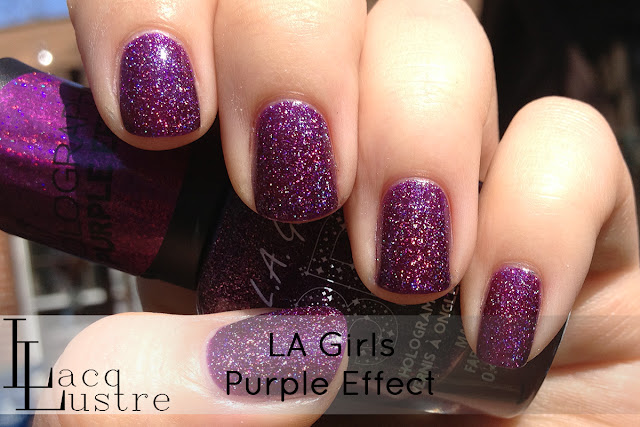 LA Girls Purple Effect swatch