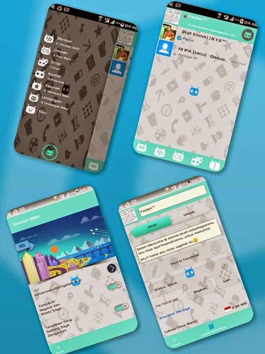 BBM Mod Cyanogen Theme Versi Terbaru 2.7.0.23