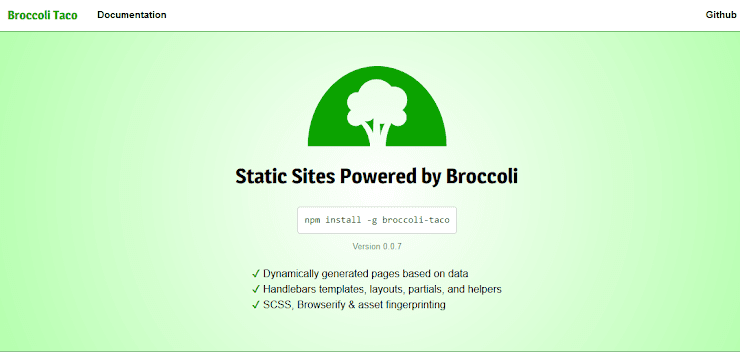 Broccoli Taco static site publishing service
