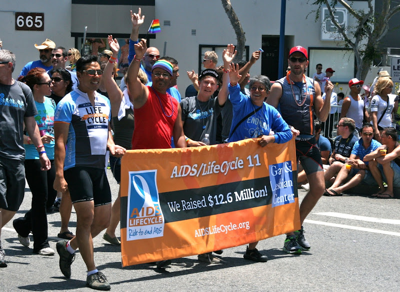 AIDS Lifecycle riders LA Pride 2012