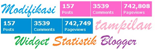 Modifikasi widget statistik bawaan blogger