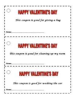 photo of Valentine's Day Coupon Booklet, free, pdf, Valentine's Day,teacherspayteachers.com, Ruth S.
