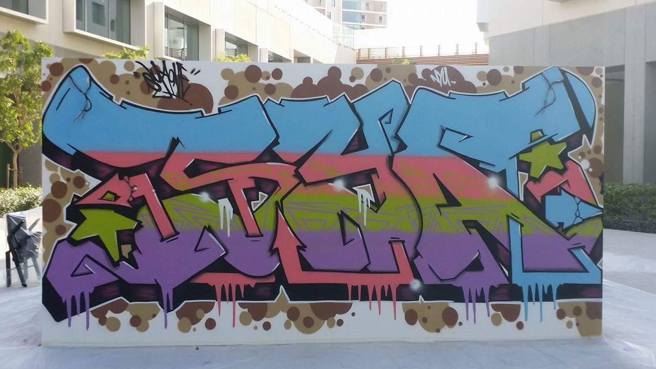 Graffiti wall uae - Nyu Abu Dhabi