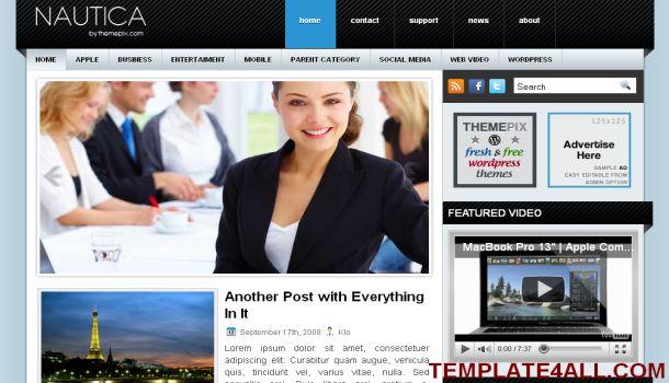 Business Portfolio Blue Wordpress Theme