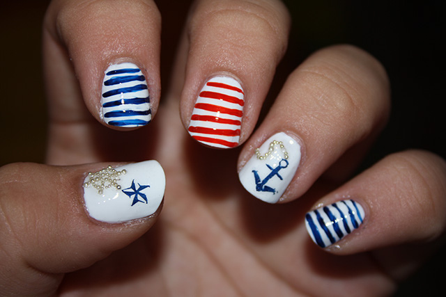 Marine Navy Nail Art Designs Everything About Fashion Today