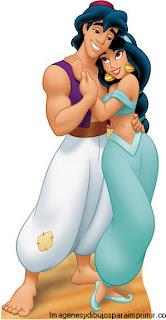 Aladin y jasmin enamorados