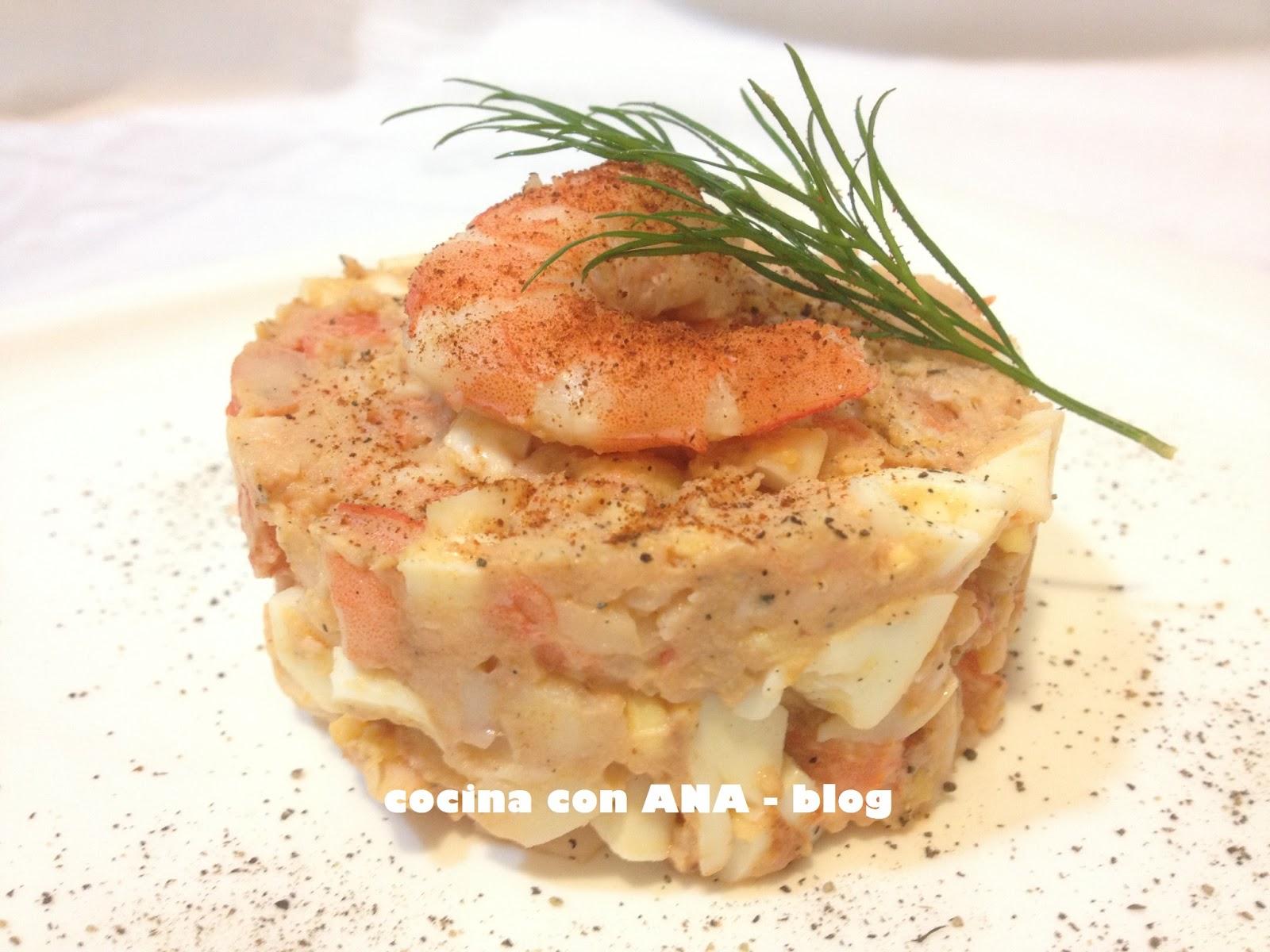 Cocina con ana tartar de gambas dukan - Ana cocina facil ...