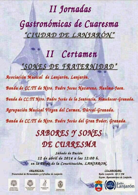 """II CERTAMEN """"SONES DE FRATERNIDAD"""" EN LANJARÓN"""