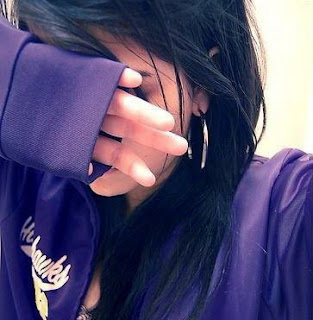 purple hot girl facebook DP