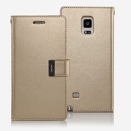 Goospery Galaxy Note 4 Case [Rich Diary] Wallet Journal Case