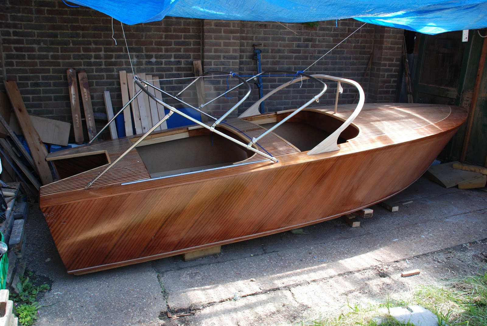 Its July Already And The UK Weather Is Rubbish For Varnishing Boats So Decided To Get On With Canopy Frame Instead I Bought This Stainless Steel