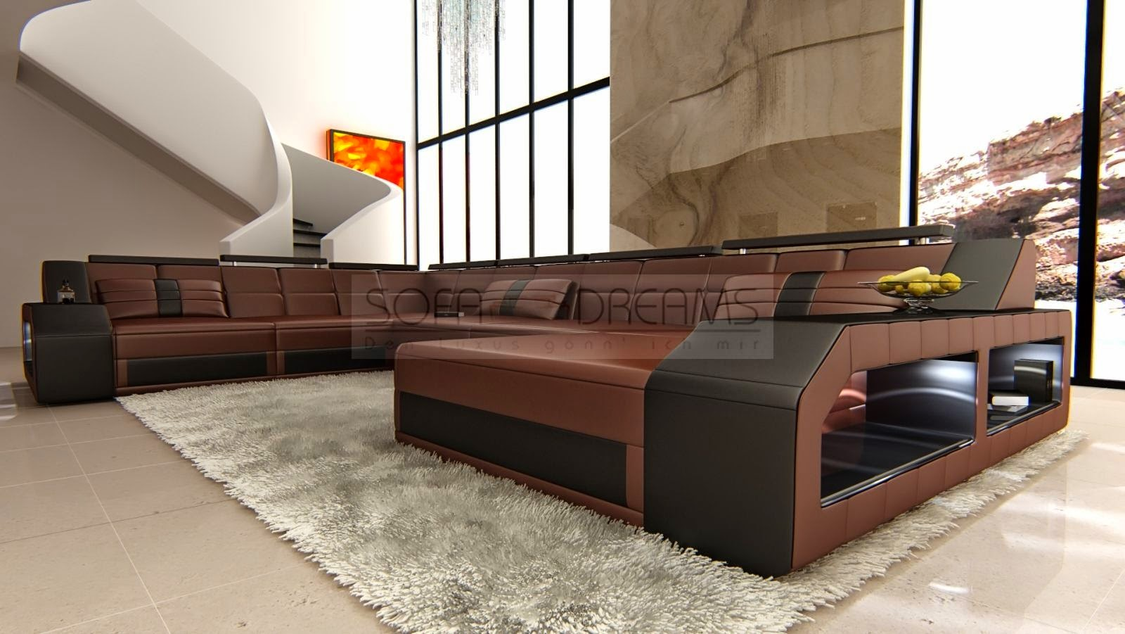 ledersofas sofas vom designer. Black Bedroom Furniture Sets. Home Design Ideas