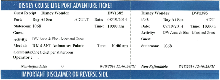 Tickets for Anna and Elsa Meet and Greet