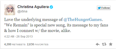 internetjar blog christina tweet about hunger game track