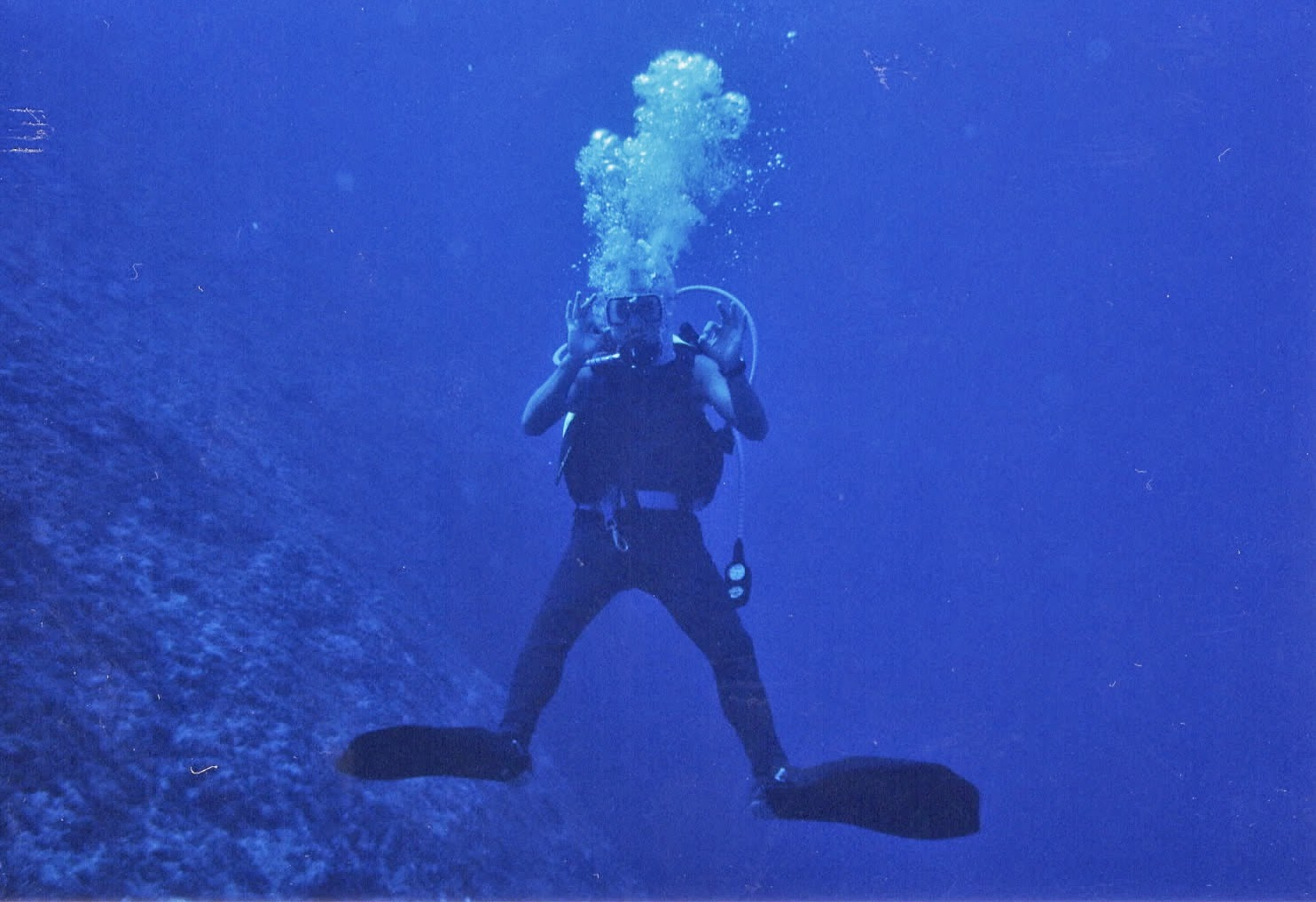 Diving the Blue Hole on Guam!