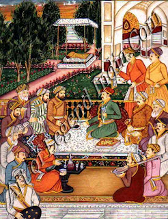Dara Shikhon with Sages in a Garden