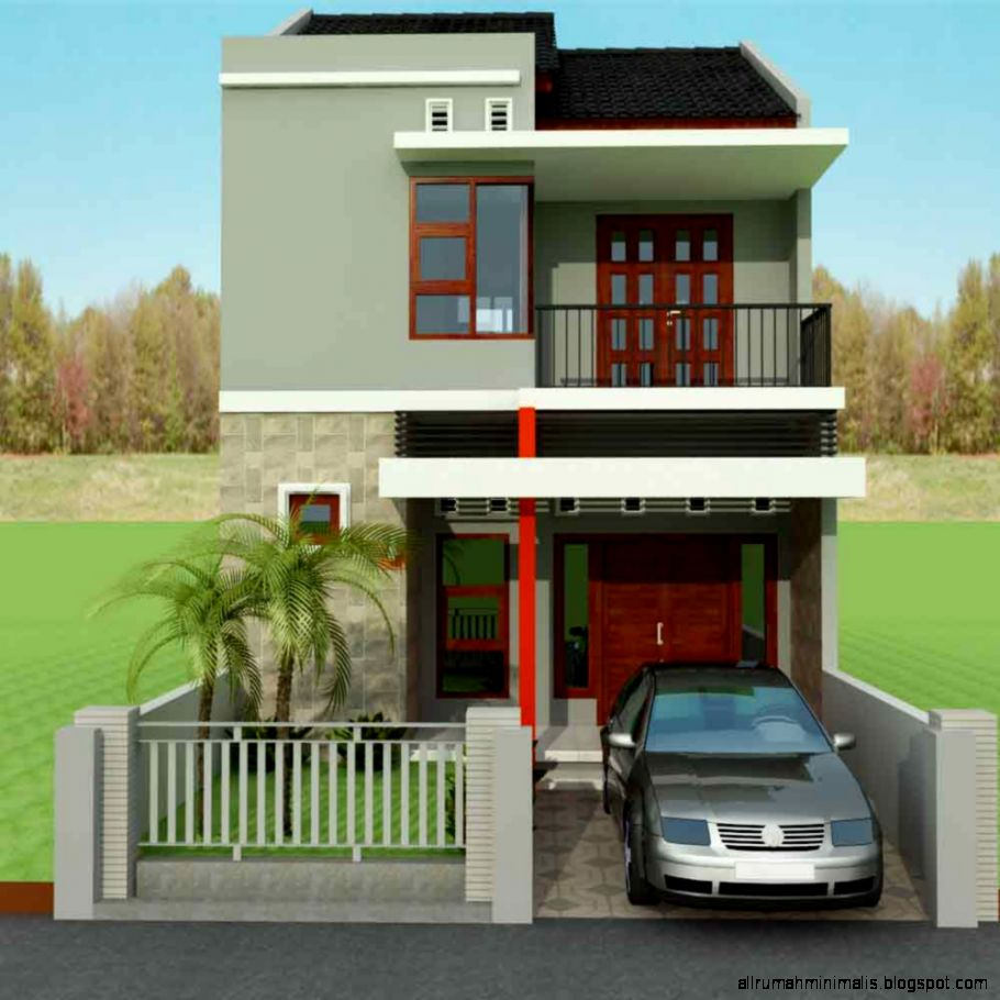 Rumah 2 Lantai Minimalis Sederhana Dekorasi Rumah 123