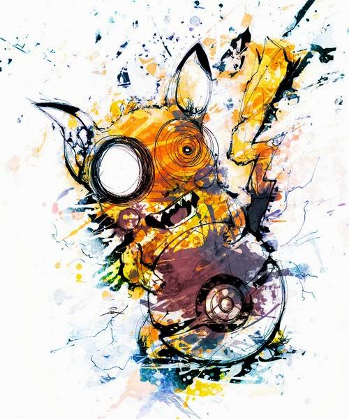FanArt psicodélico de Pikachu