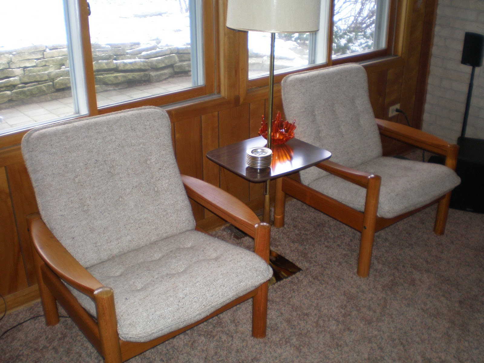 ... Pair of Danish Modern Lounge Chairs by Domino Mobler - SOLD