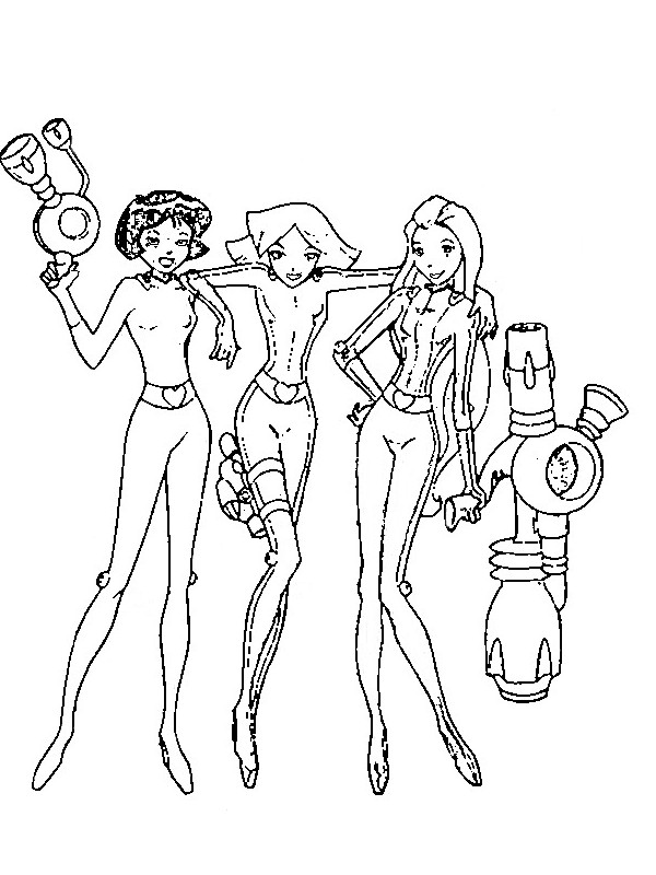 coloring pages of totally spies - photo#9
