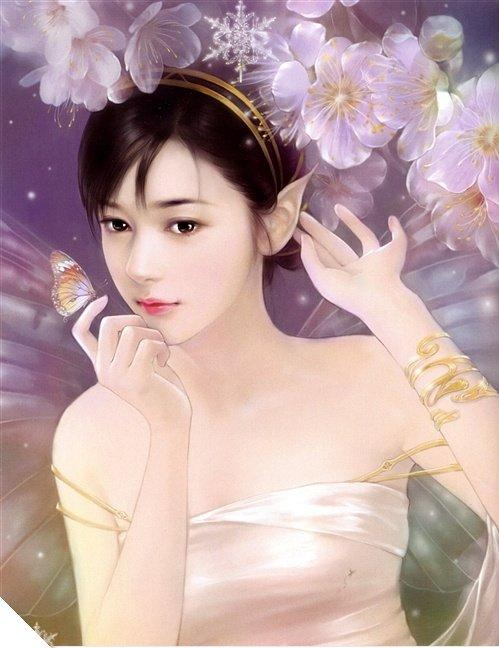 Hair cuts style beautiful girls i cannot acquisition artisan name but i adore that it is so admirable and gorgeous have a attending on admirable chinese girls paintings voltagebd Image collections