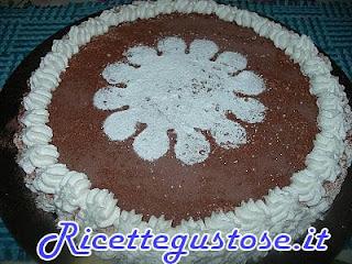 cheesecake con biscotti al cacao e yogurt al cioccolato