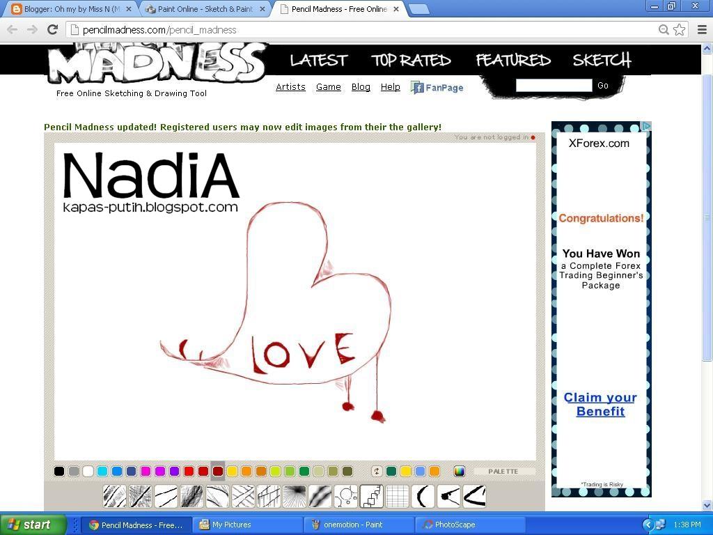Online Sketch Pilihan N Oh My By Miss N Main Blog