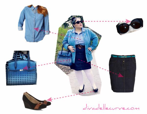 Outfit plus size - I love denim - dettagli