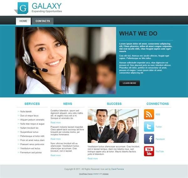 Galaxy - Free Wordpress Theme