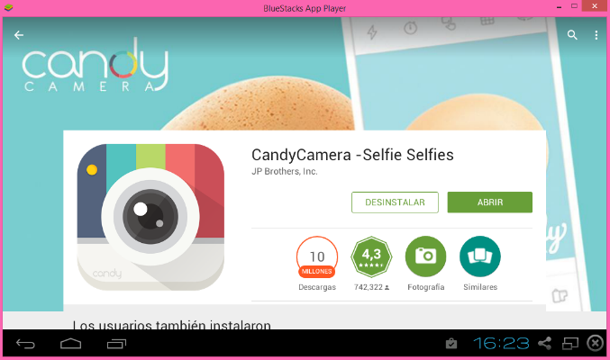 Como instalar candy camera para pc descargar candy for Candy camera editor de fotos