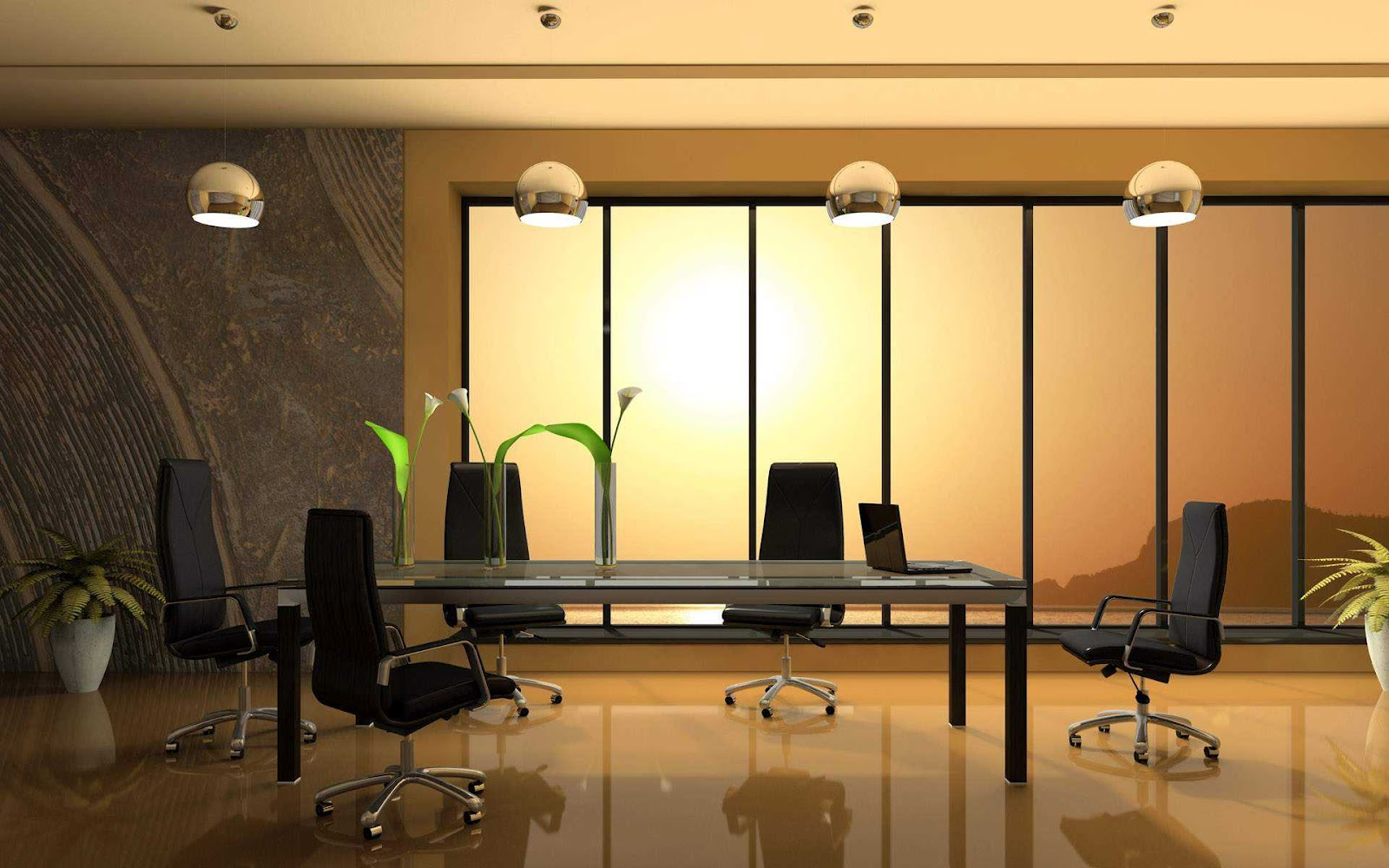 Luxury office office furniture design modern home office for Office interior design pictures