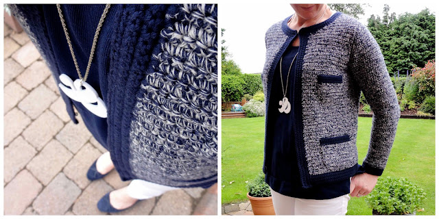 Crochet2+Collage Navy & White and The Best Returns Policy EVER