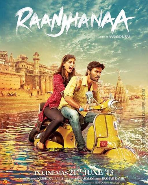 Raanjhanaa 2013 DVDRip 300mb ESub