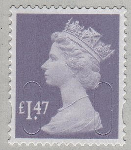 Machin definitive airmail stamp £1-47.