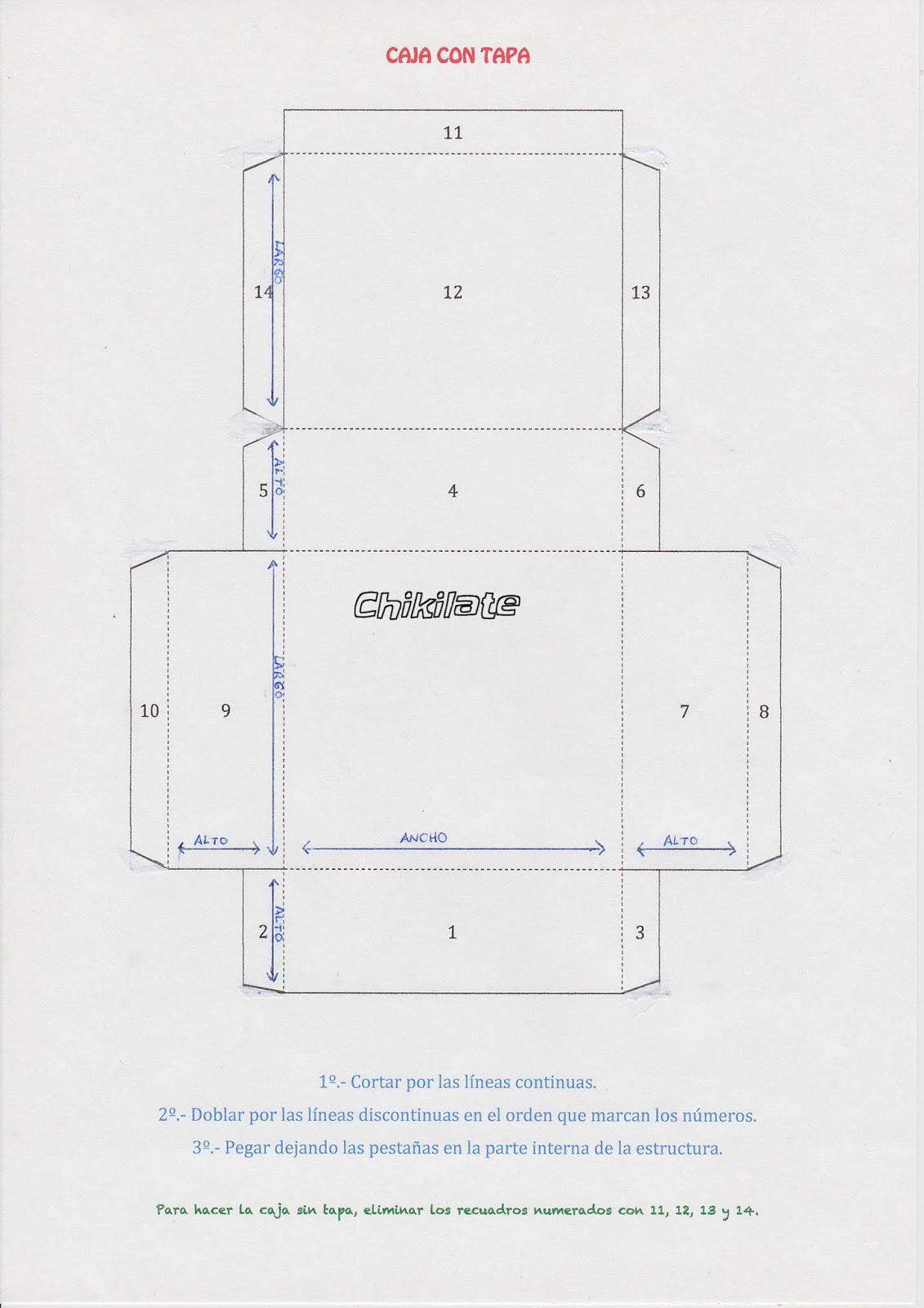 Chikilate: Cajas de cartón