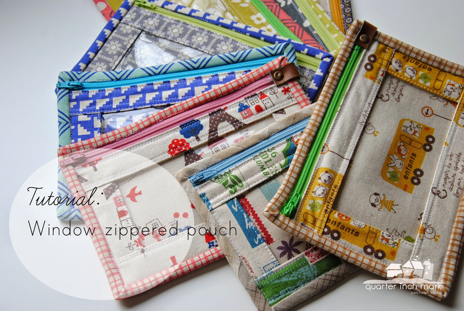 Pattern For Book Cover With Zipper : Quot mark tutorial window zippered pouches