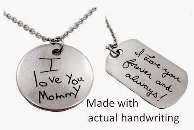 Handwriting Necklace Made With Actual Handwriting