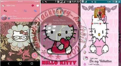 Ubdate BBM Mod Tema Pink Hello Kitty v2.9.0.51 Apk
