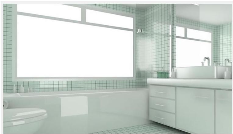 O AMBIENTE IDEAL Banheiros inspiradores + dúvidas e sugestões -> Banheiro Com Pastilha De Vidro Verde Agua